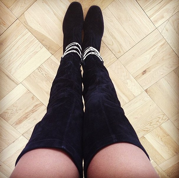 We got a sneak peek at Jourdan Dunn's fresh Balenciaga boots. Source: Instagram user officialjdunn