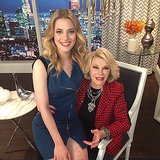 Gillian Jacobs sat on Joan Rivers's lap during an appearance on Fashion Police. Source: Instagram user gillianjacobs