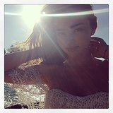Miranda Kerr basked in the sunshine during a beach day. Source: Instagram user mirandakerr