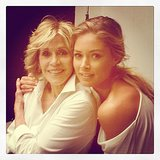 "Doutzen Kroes spent the day with ""incredible beautiful power woman"" Jane Fonda. Source: Instagram user doutzen"