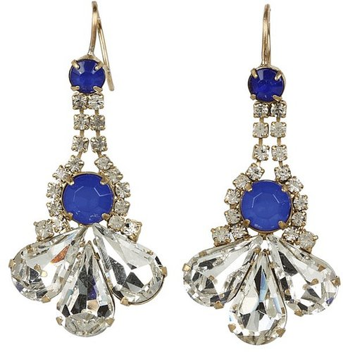 Juicy Couture - Rhinestone Cluster Earrings (Gold) - Jewelry