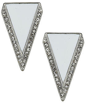 Sparkle triangle earring