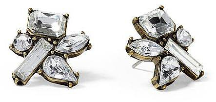 Tinley Road Clear Cluster Stud Earring