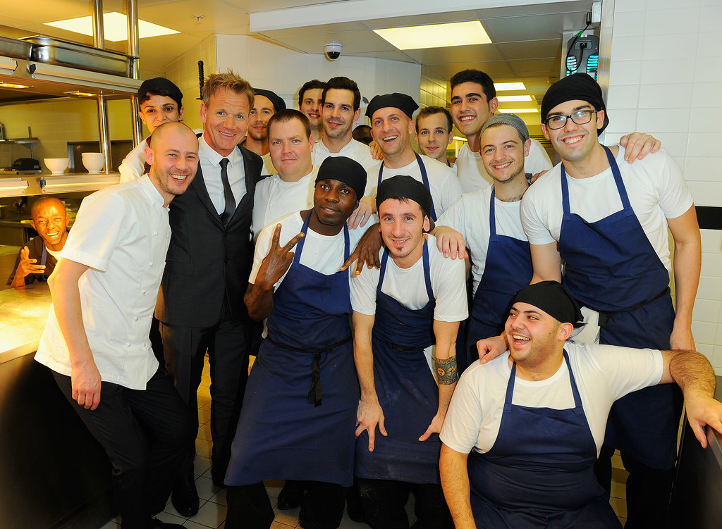 Across the pond, Gordon Ramsay and crew celebrated the opening of his latest restaurant, Union Street Café, in London's Southwark neighborhood.