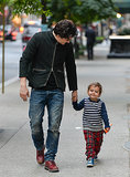 Orlando Bloom and Flynn strolled through Manhattan in October 2013.