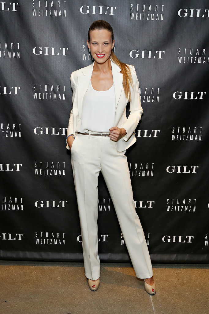 Petra Nemcova looked white hot in New York for the Stuart Weitzman and Gilt bash.