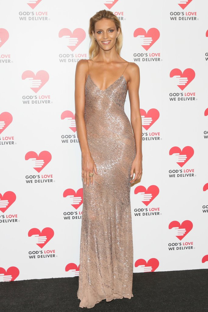 Anja Rubik glowed in her slinky column at the God's Love We Deliver event in New York.