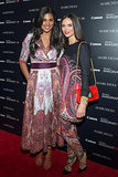Rachel Roy wore her colorful paisley design while striking a pose with Georgina Chapman at the A Dream of Flying screening in New York.