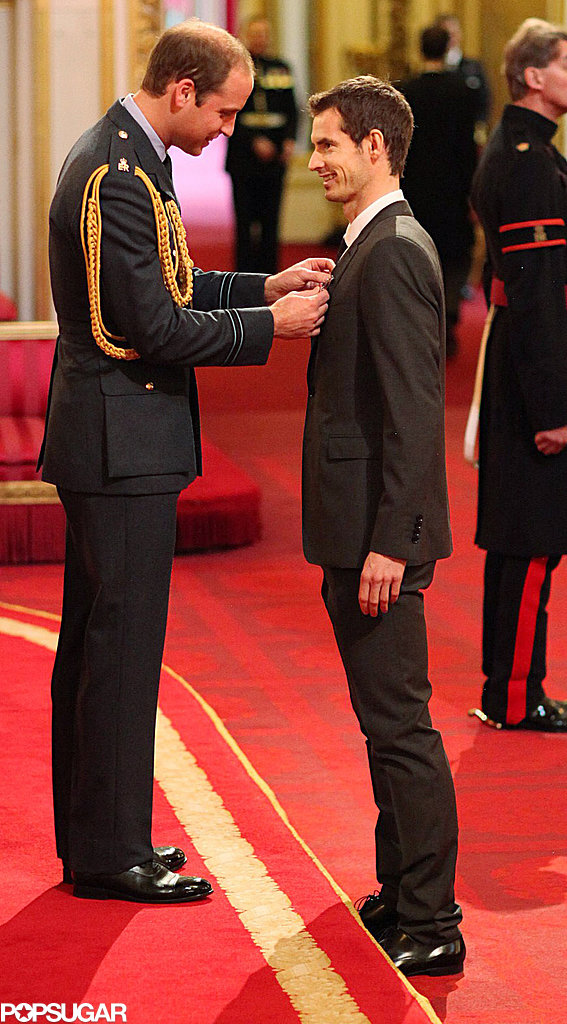 Prince William awarded tennis player Andy Murray an Order of the British Empire.