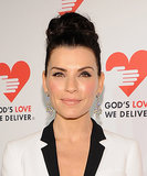 Julianna Margulies opted for a high-volume updo and pink blush for the evening.