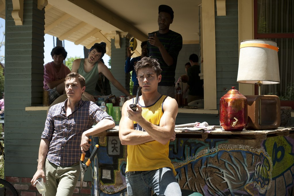 Neighbors Efron goes Greek in this upcoming comedy, but I do not remember the frat guys at my school looking like this.
