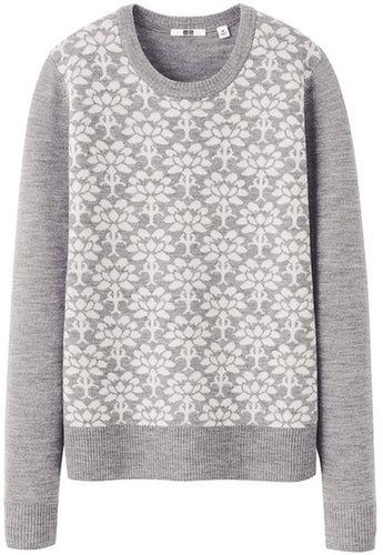 Women Extra Fine Merino Jacquard Sweater