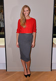 Brooklyn Decker hosted the Express grand opening in Union Square in a bright topper and pencil skirt.
