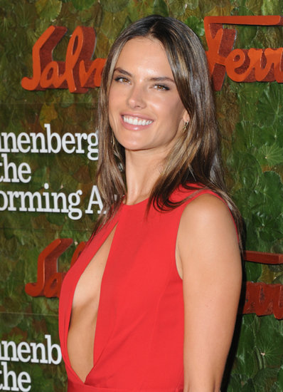 Alessandra Ambrosio looked fabulous in red at the Annenberg Gala.