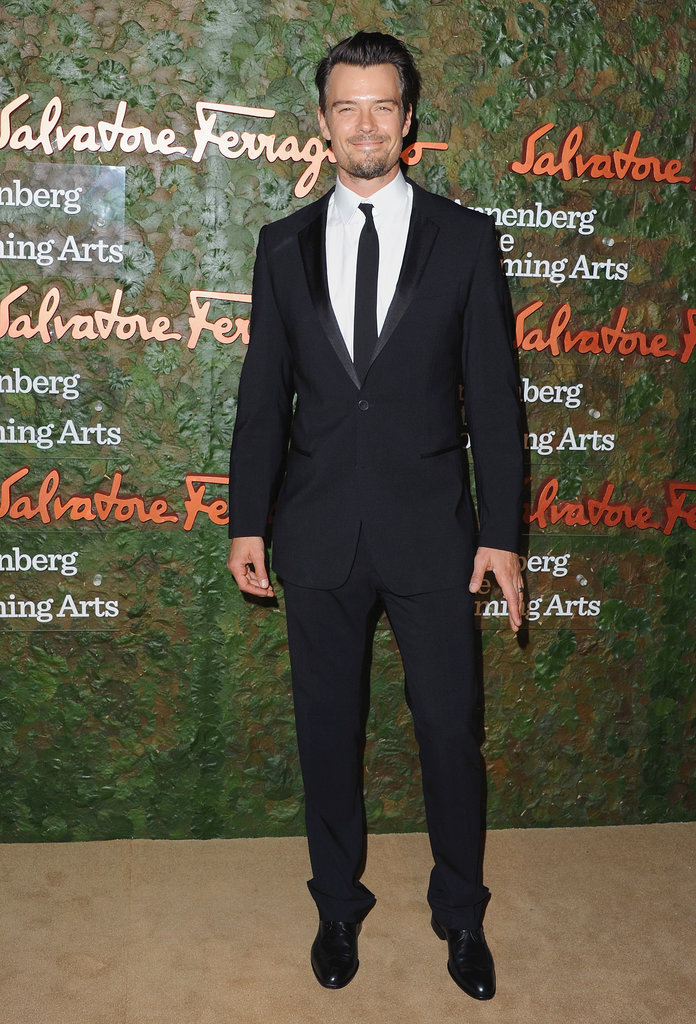 Josh Duhamel looked dashing in his dark suit at the Annenberg Gala.