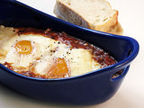 Day Five: Baked Eggs in Spicy Tomato Sauce
