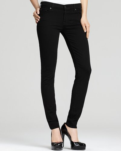 7 For All Mankind Skinny Jeans in Black Wash