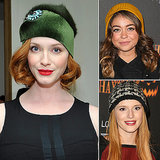 Embrace your hat hair like these celebrities. Christina Hendricks's green beanie was the favorite, but you can still vote on yours.