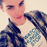 Check out the brows on Hilary Rhoda. Source: Instagram user hilaryhrhoda