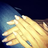 Heidi Klum shows us just how chic a beige manicure can be. Source: Instagram user heidiklum
