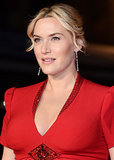 At the London Film Festival, Kate Winslet showed off her pregnancy glow in a stunning red gown and a simple updo.