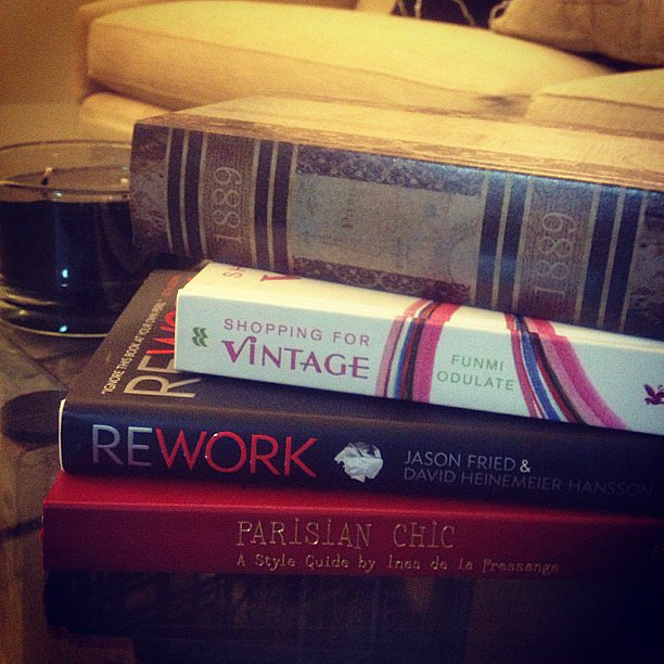 "Travelannestyle wrote, ""After moving from Baltimore to LA — only books I unpacked from the trip."""