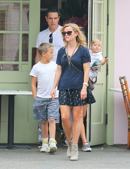 Reese Witherspoon and her family had lunch in LA.