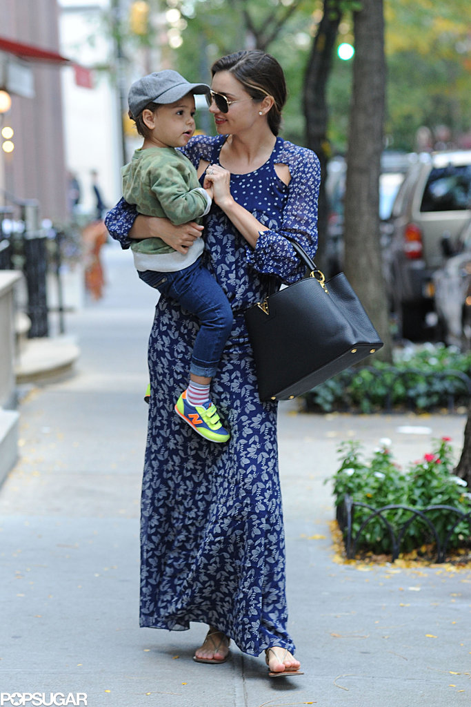 Miranda Kerr snuggled with her son, Flynn Bloom.