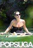 Kate Moss went kayaking.