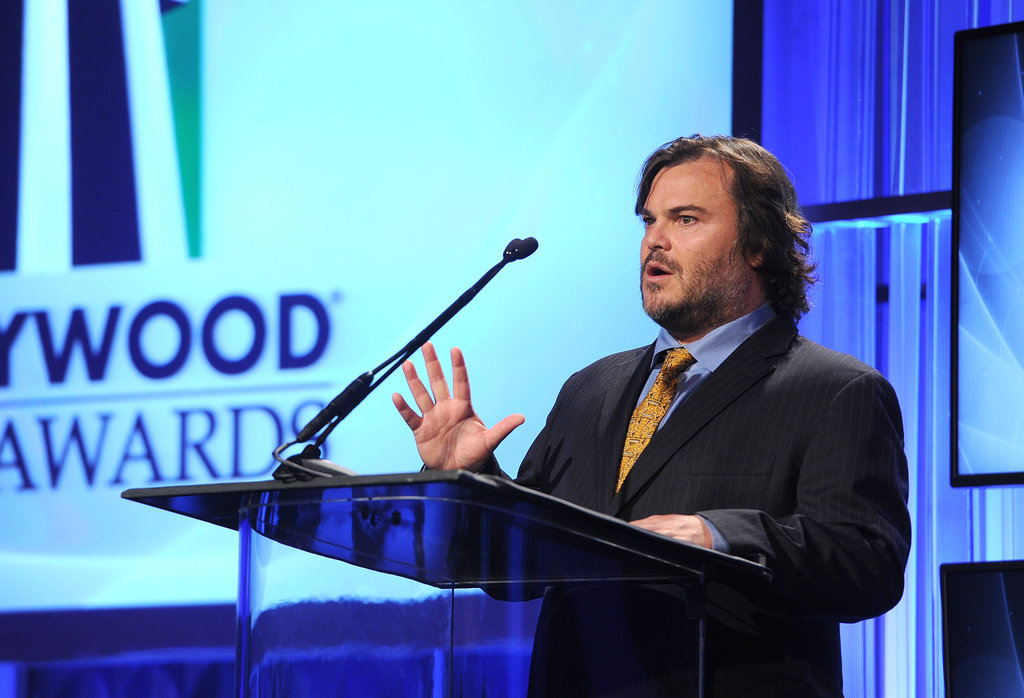 Jack Black presented the screenwriter award at the Hollywood Film Awards.
