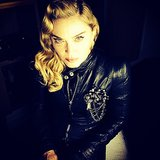 Madonna got tough in leather for the Berlin Hard Candy opening. Source: Instagram user madonna