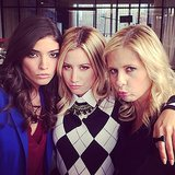 "Ashley Tisdale got ""crazy"" on set with The Crazy Ones' Sarah Michelle Gellar and Amanda Setton. Source: Instagram user ashleytis"