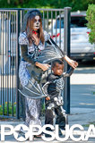 Sandra Bullock got into the Halloween spirit with her son, Louis, on Saturday in LA.