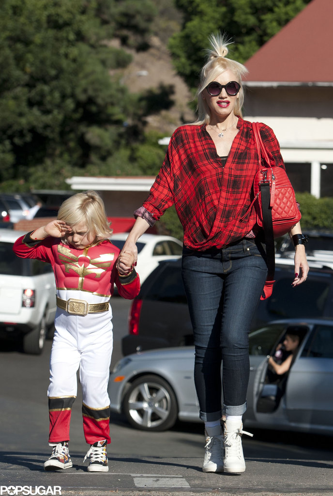 Gwen Stefani took a walk around LA with her Power Rangers-clad son, Zuma.