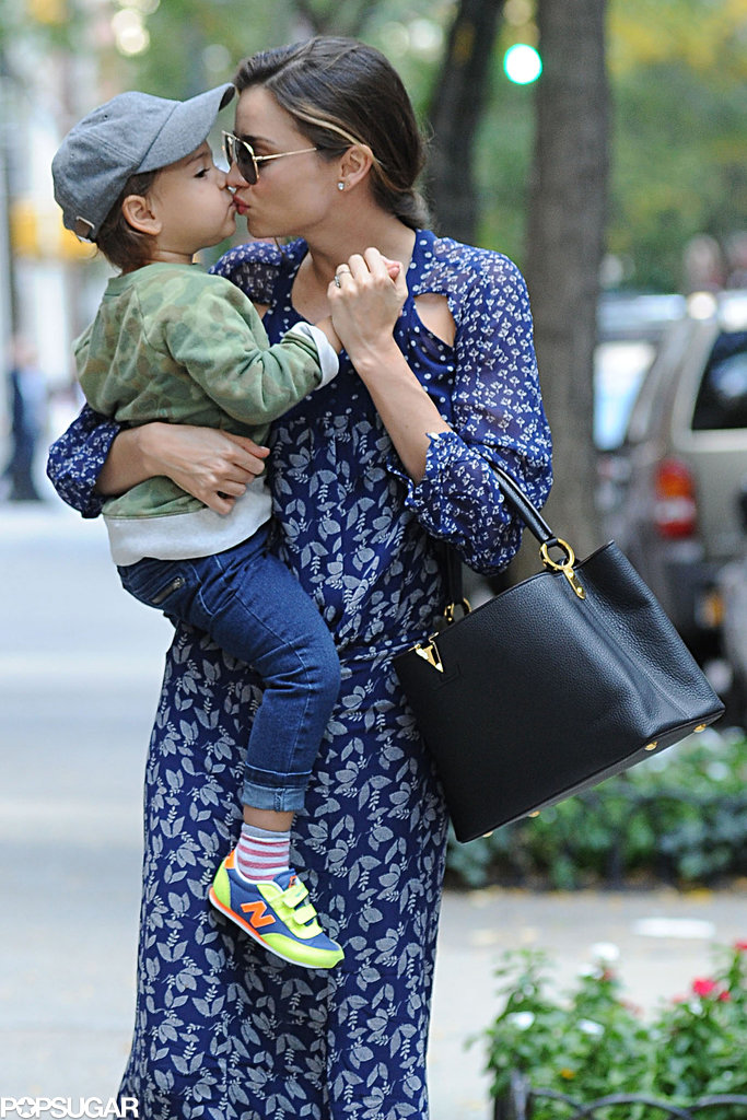 Miranda Kerr had a NYC outing with Flynn Bloom.