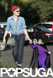 Amy Adams escorted her daughter, Aviana, to an LA costume party.
