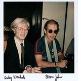 Who else could pull an impromptu shot of Andy Warhol and Elton John from their archives?  Source: Instagram user privategg