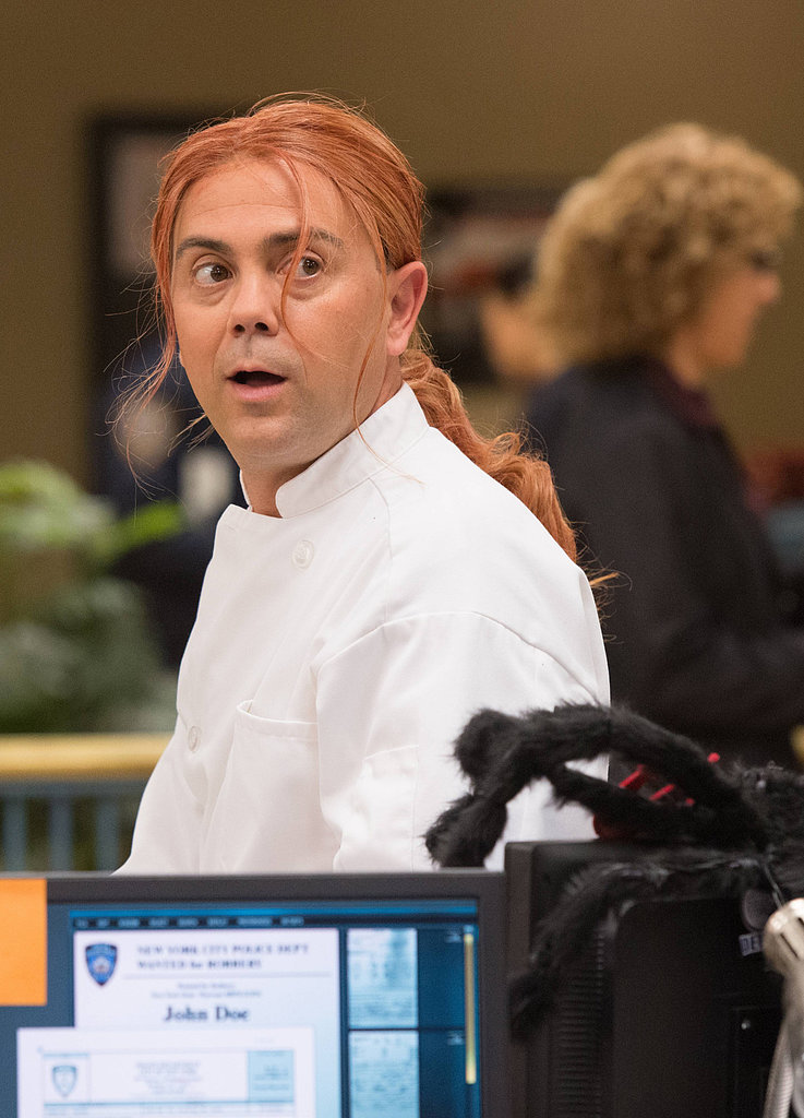 Brooklyn Nine-Nine Det. Charles Boyle (Joe Lo Truglio) dresses as a chef in the Halloween episode of Brooklyn Nine-Nine.
