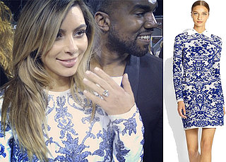 Kim Kardashian's Engagement Dress to Kanye West
