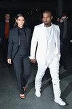 Kim Kardashian at Givenchy's Fall 2014 Fashion Show