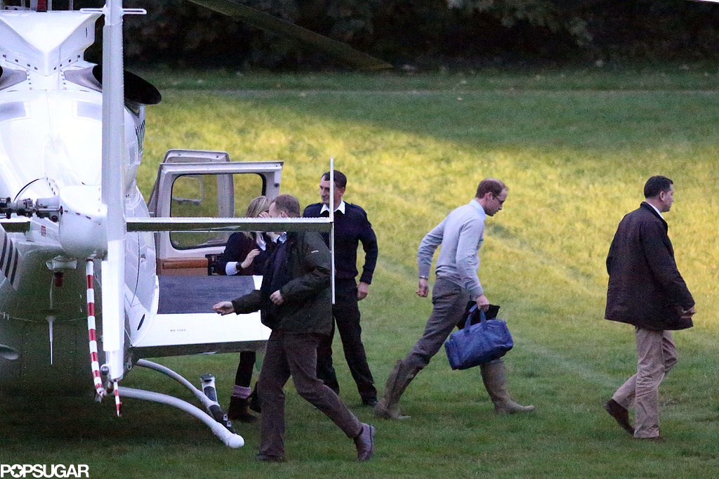 Prince William got back to London just ahead of Prince George's christening.