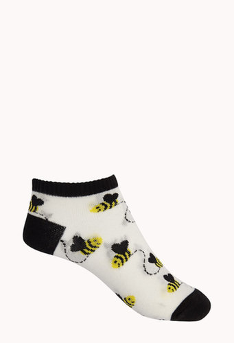 FOREVER 21 Bumblebee Ankle Socks
