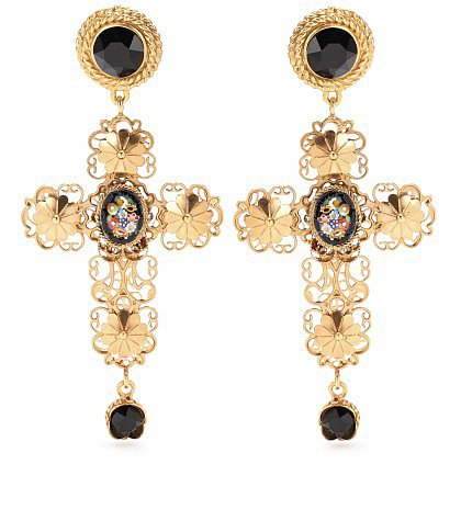 Dolce & Gabbana - Gold-plated clip-on earrings  - mytheresa.com GmbH