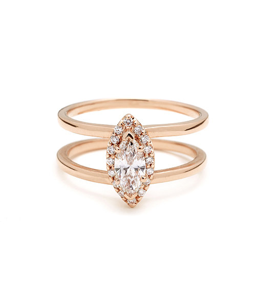 Anna Sheffield Attelage Marquis Diamond Ring ($4,500)