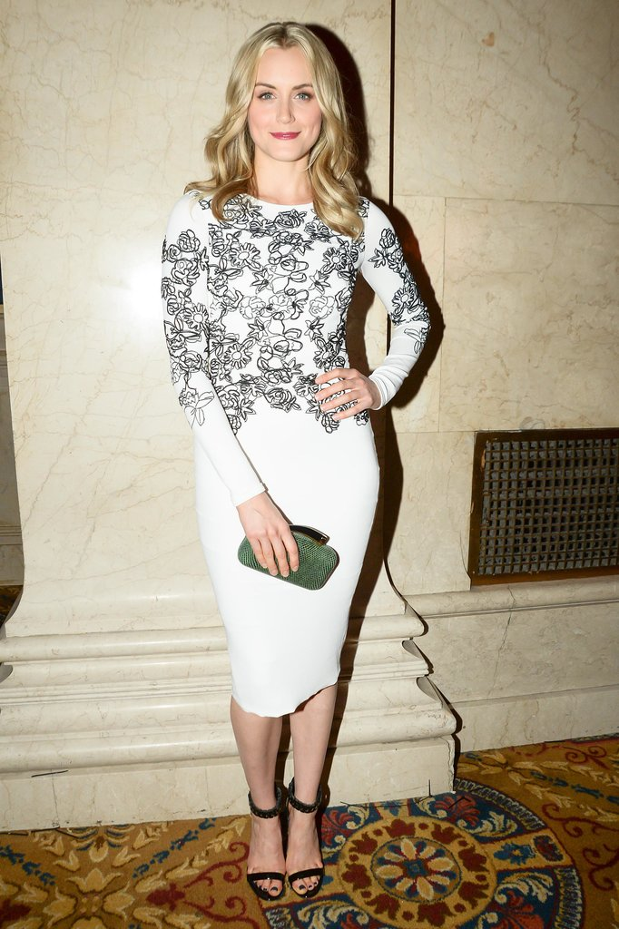 Orange might be the new black, but Taylor Schilling wore black and white at Tuesday's event.