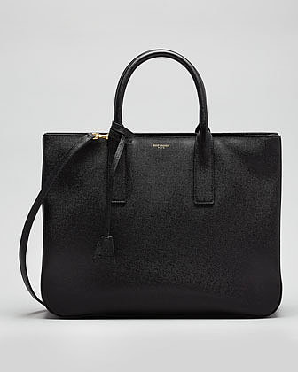 Saint Laurent Museum Borsa Tote Bag, Black