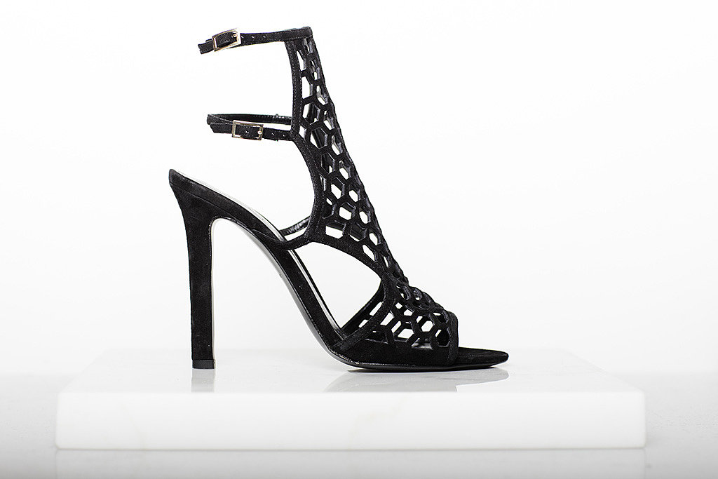 Scandal Suede Sandal Bootie in Black ($895) Photo courtesy of Tamara Mellon