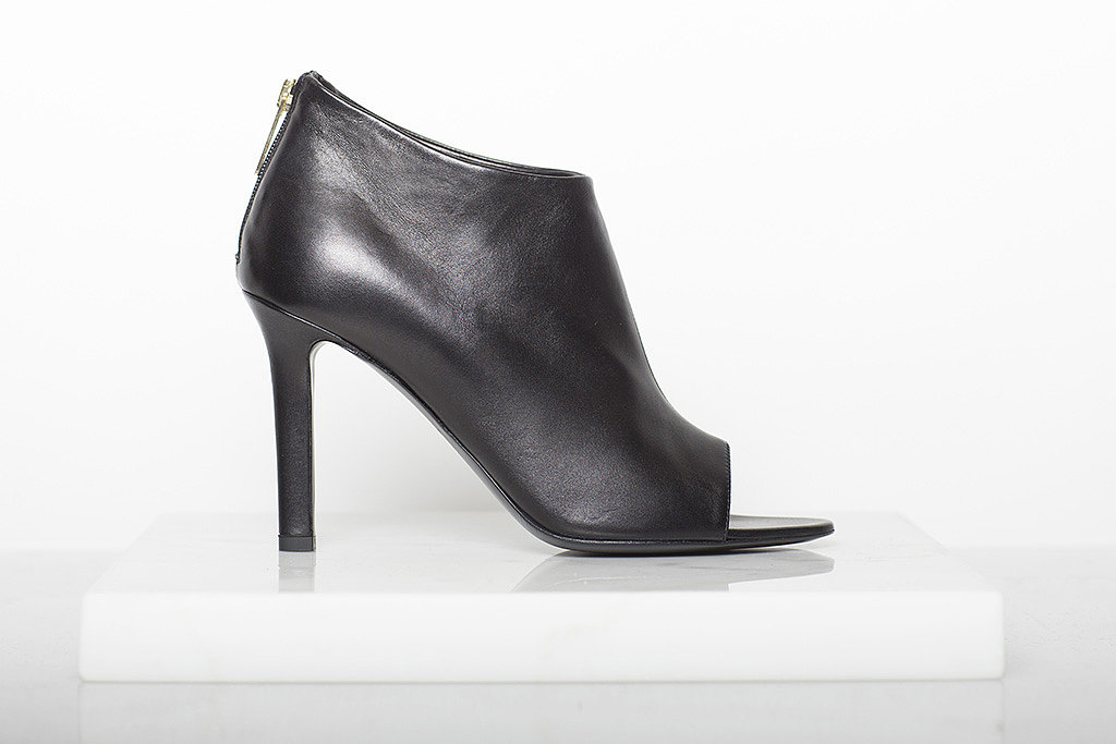 Desire Nappa Open Toe Bootie in Black ($795) Photo courtesy of Tamara Mellon