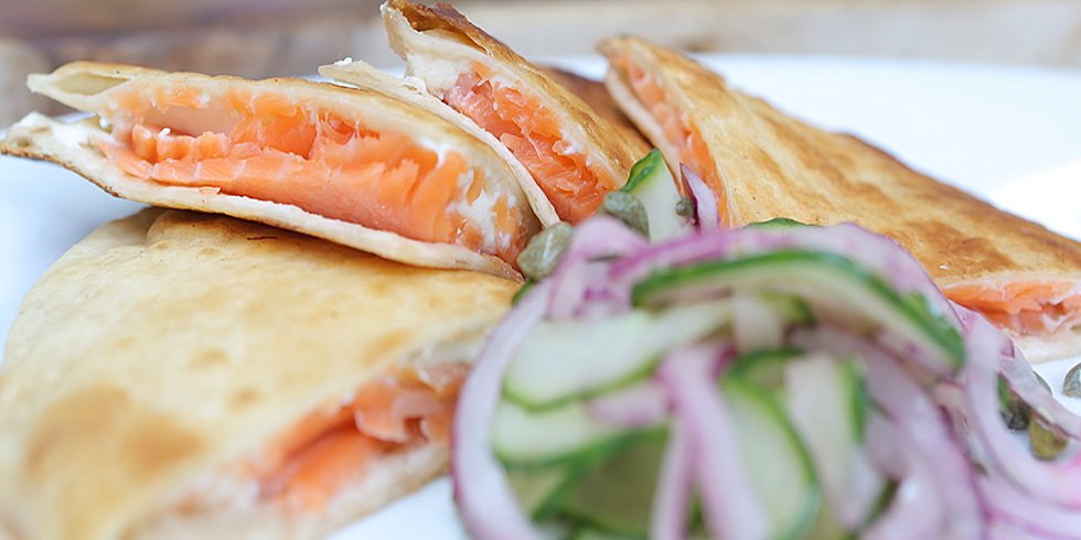 A Multicultural Smoked Salmon Quesadilla