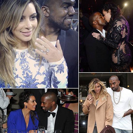 Newly Engaged Kim and Kanye's Sweetest Moments!
